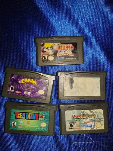 Juegos Game Boy Advance Crash Naruto, Teen Titans Y Otros