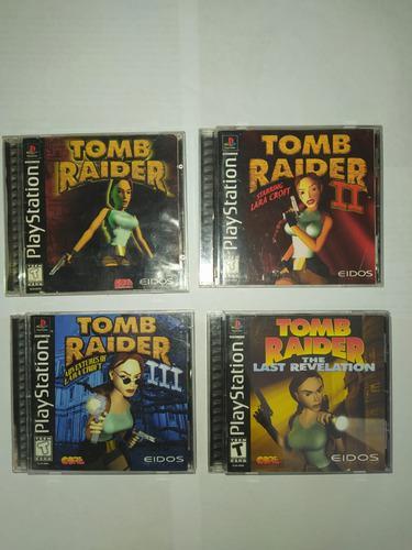 Lote De Juegos Tomb Raider Ps1