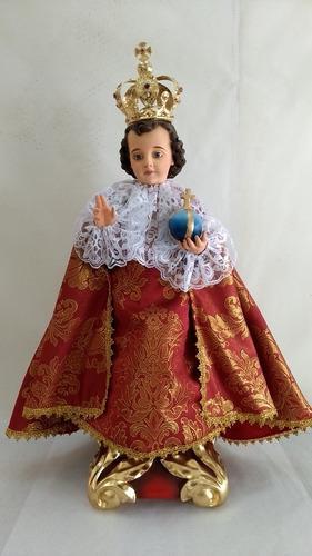 Niño Jesús De Praga De Vestir 65 Cm Fibra De Vidrio