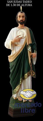 San Judas Tadeo De 1.30m (bastón Incluído)