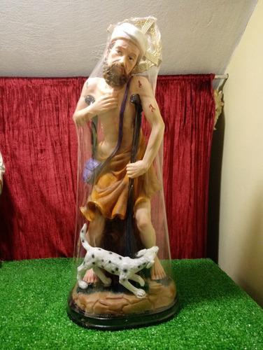 San Lázaro, Figura De Resina, 50cm Alto X 20cm Largo X 17cm