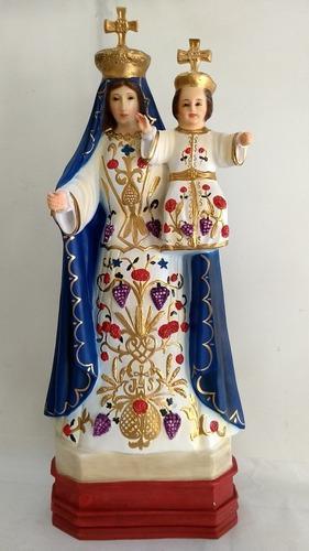 Virgen De La Candelaria 77 Cm Fibra De Vidrio Ojos De Crista