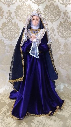 Virgen De La Dolorosa De 80 Cm Fibra De Vidrio
