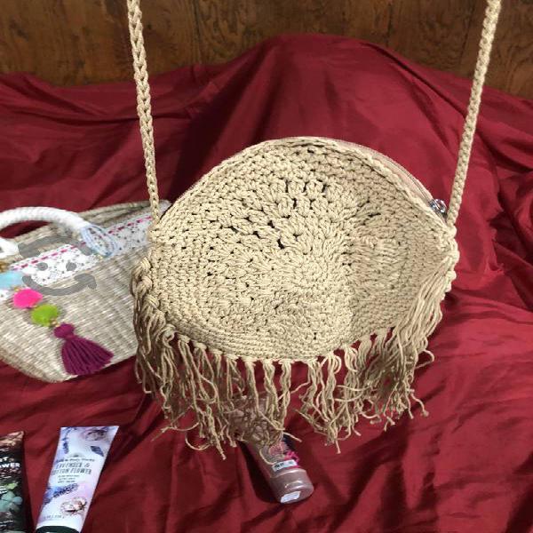 Bolso de playa tejido a mano