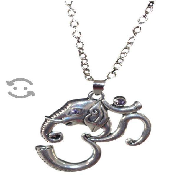 Dije con cadena Ganesh, acero inoxidable