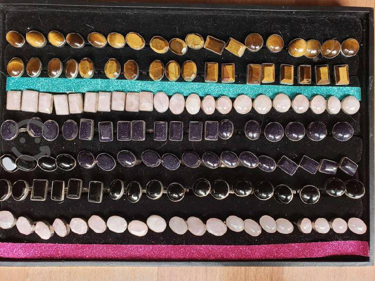 Mancuernillas de plata y piedras naturales