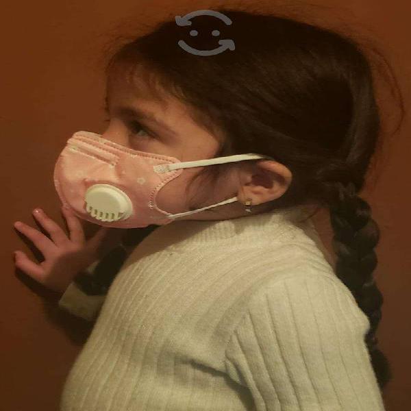 Mascara con valvula de respiracion Niñas y Niños!