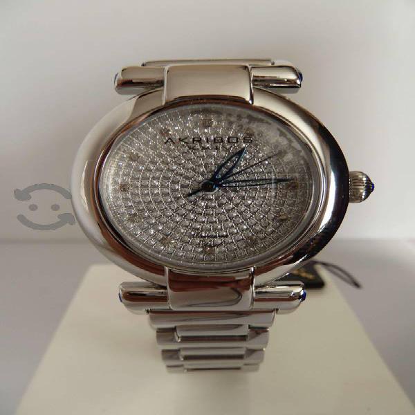 Reloj Akribos Xxiv P/caballero Con Diamantes