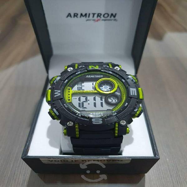 Reloj Armitron Pro Sport Negro con Verde