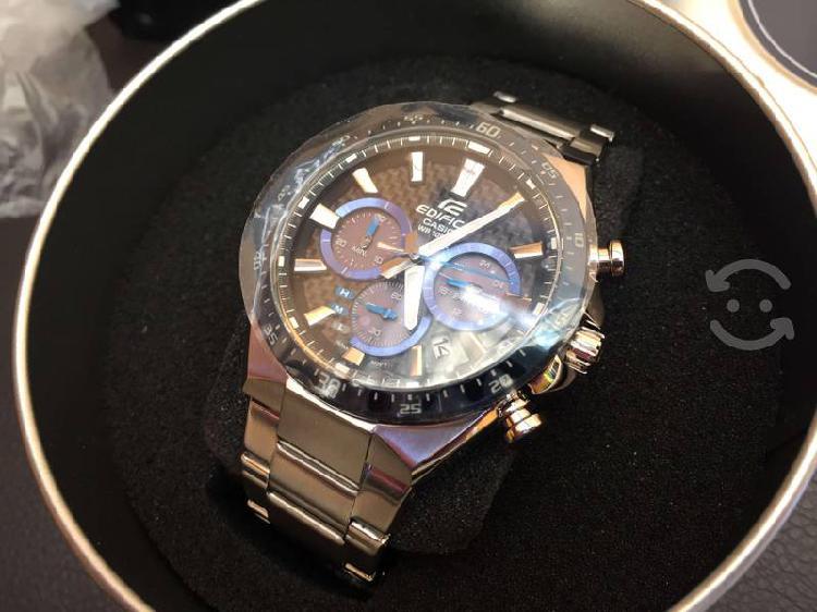 Reloj Casio Edifice Solar EQS-800 Azul Nuevo