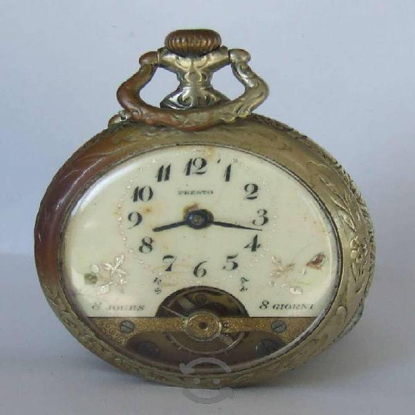 Reloj De Bolsillo, Marca Presto Acero. Antiguo
