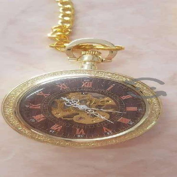 Reloj De Bolsillo Tipo Vintage Manecillas Romanas