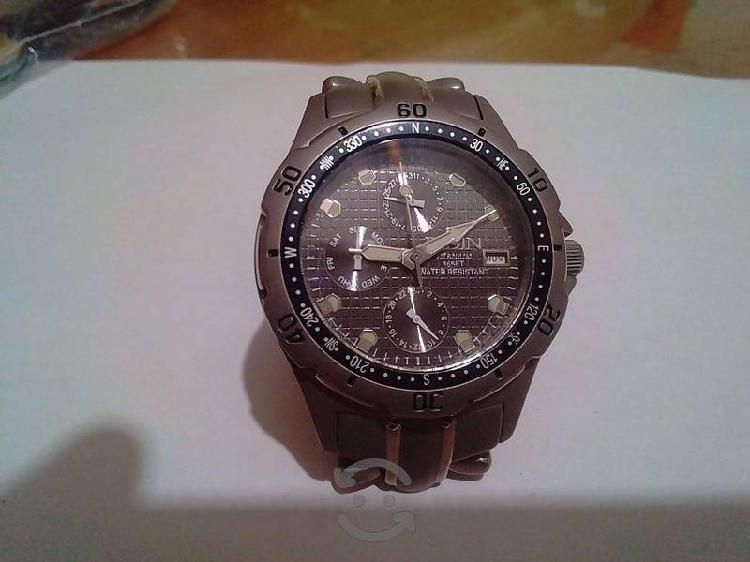 Reloj Elgin cronometro de aluminio original