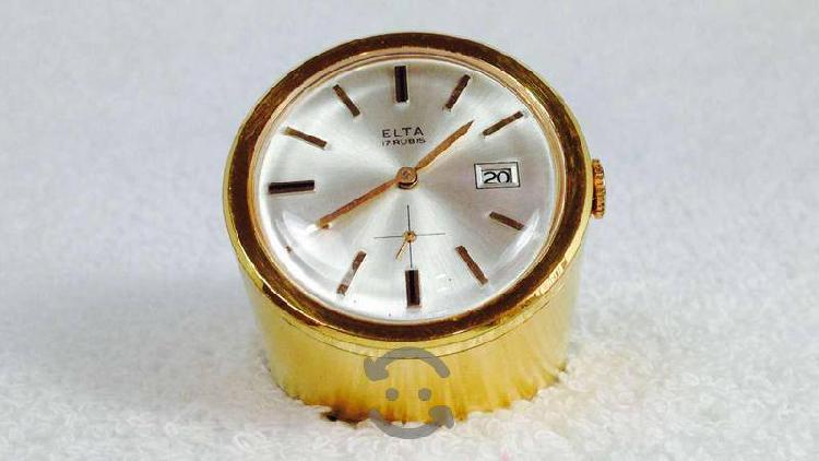 Reloj Elta Chapa De Oro Para Escritorio