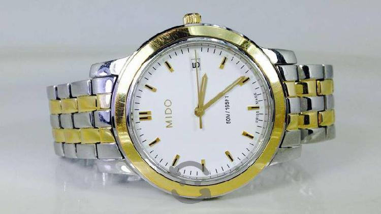 Reloj Mido De Quarzo P/caballero Acero-chapa