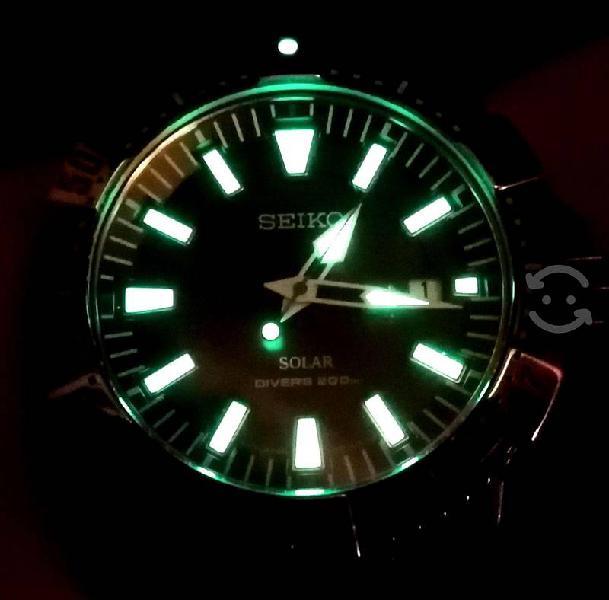 Reloj Seiko Diver SOLAR 200 metros resistencia, Bi