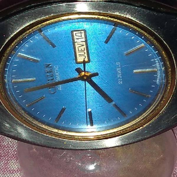 Reloj citizen automatico 21 joyas acero inocidable
