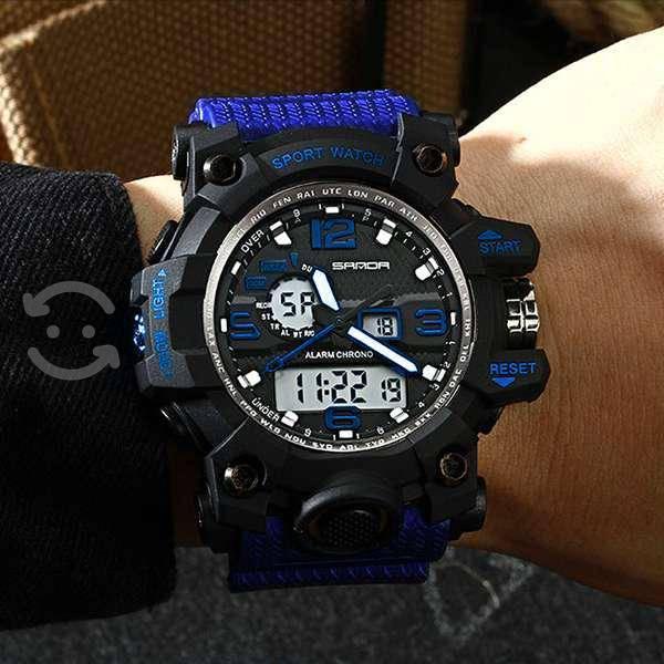 Reloj rock digital / análogo - azul