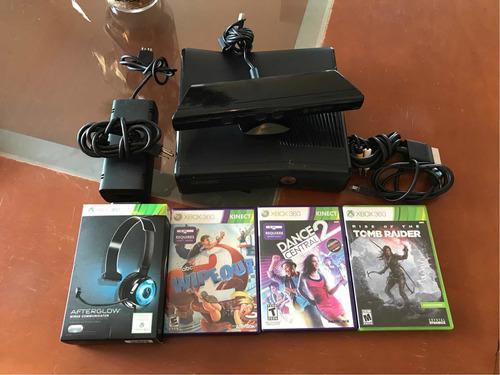 Xbox 360 500gb C/ Kinect, Diadema Y 3 Juegos
