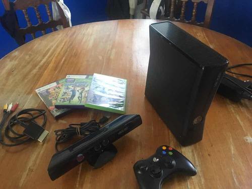 Xbox 360 Slim 250 Gb Kinect Y 3 Juegos Originales