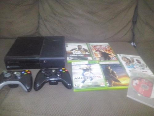 Xbox 360 Slim Con 7 Juegos Y 2 Controles