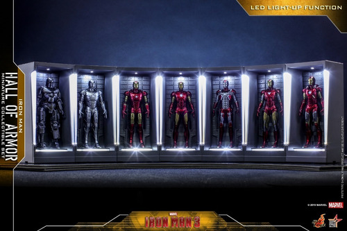 Hot Toys Iron Man 3 Hall Of Armor Miniature Set Toylover