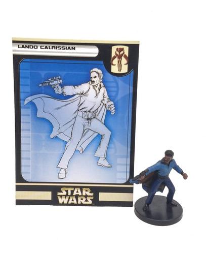 Star Wars Miniatures Lando Calrissian + Tarjeta Rare Wizards