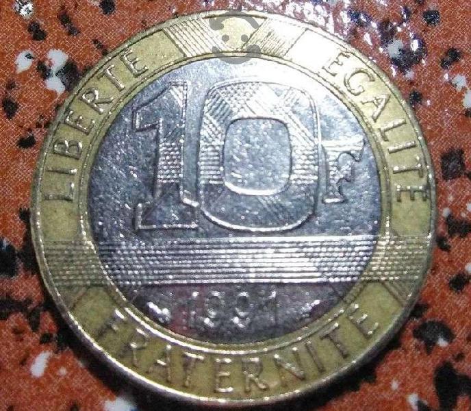 1 Moneda de 10 Francos 1991