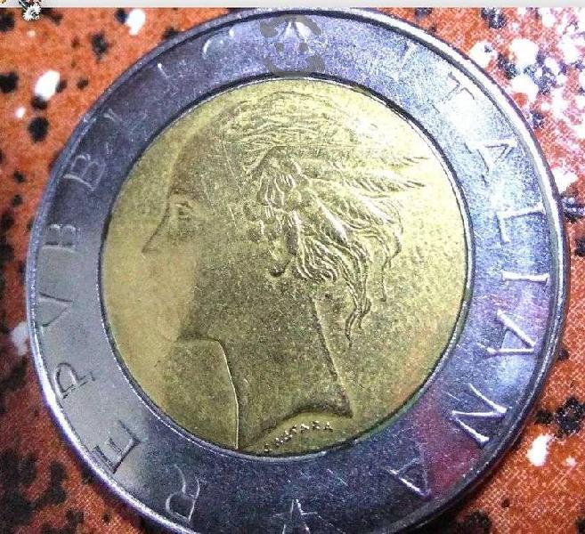 1 Moneda de 500 Liras Italianas 1986