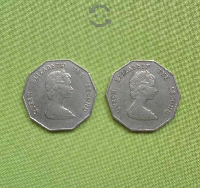 2 Monedas de 1 Dolar del Año 1995 y 1997