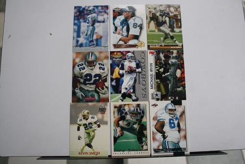 9 Tarjetas Coleccionables Dallas Cowboys, Vaqueros Dallas