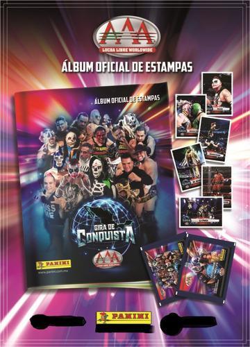 Album Y Caja Con 50 Sobres De Aaa Gira De Conquista Panini