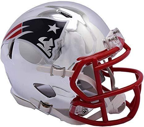 Casco Mini Speed Chrome Nfl New England Patriots Patriotas