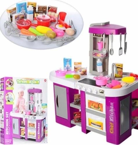 Cocinita Infantil Con Agua Luz Y Sonido Talend Chef 53pzs...