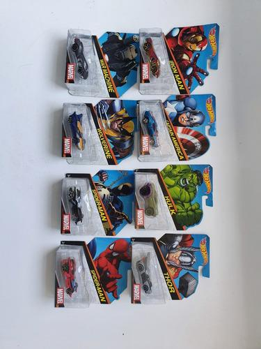 Coleccion Hot Wheels De Marvel 8 Piezas