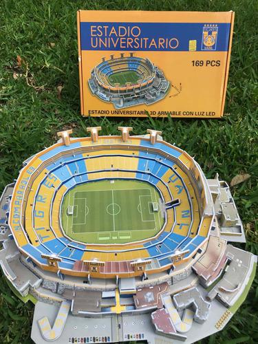 Coleccionable Estadio Universitario 3d Oficial Tigres Uanl