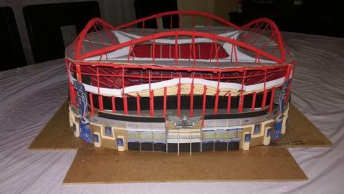Estadio Miniatura, Maqueta Artesanal De Colección A Escala