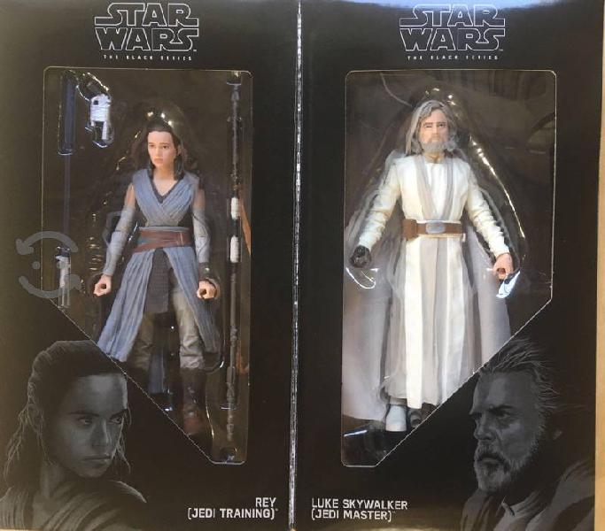 Figuras Star Wars Pack Doble Luke y Rey The Black