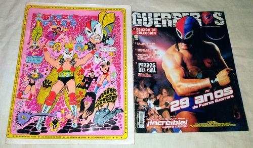 Fuerza Guerrera Lote De 2 Revistas De Colección Lucha Libre
