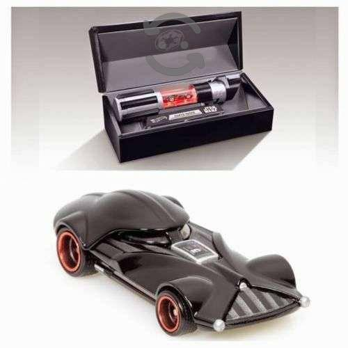 Hot Wheels Darth Vader Star Wars Sable de Luz
