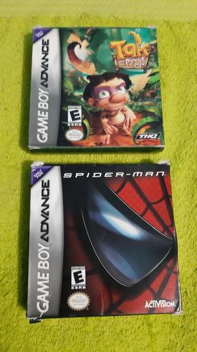 Juegos De Game Boy Advance Con Caja Spiderman & Tak