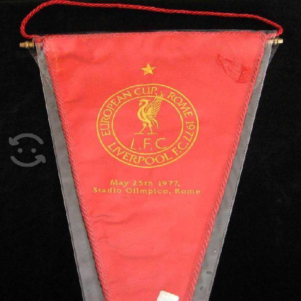 Liverpool bandera triangular premier league futbol