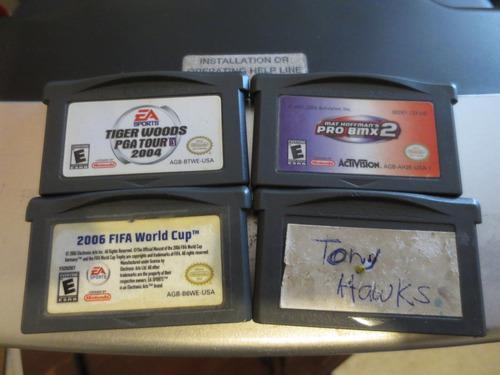 Lote 4 Juegos Nintendo Game Boy Advance Usados Sueltos Jalan