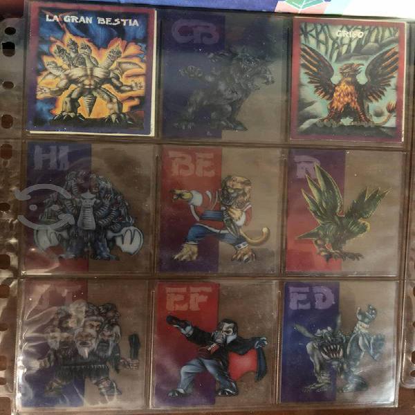Lote de tarjetas de monstruos de bolsillo sonrics