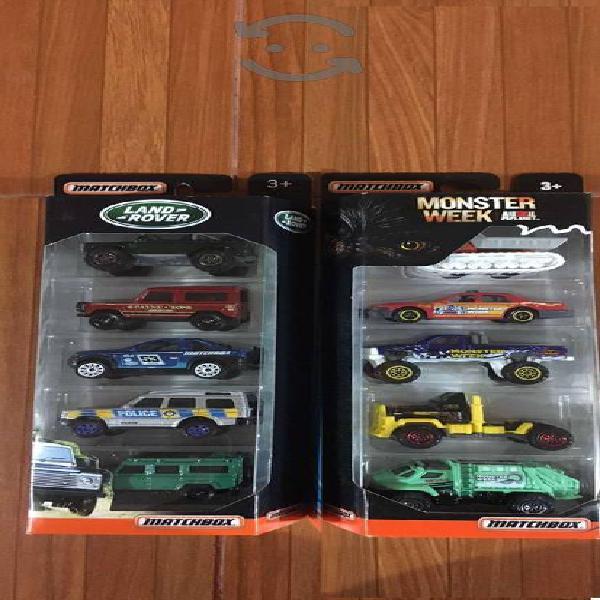 MatchBox 5 Pack de Land Rover, Monster Week