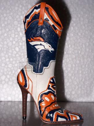 Miniatura Denver Broncos Bota Coleccionable