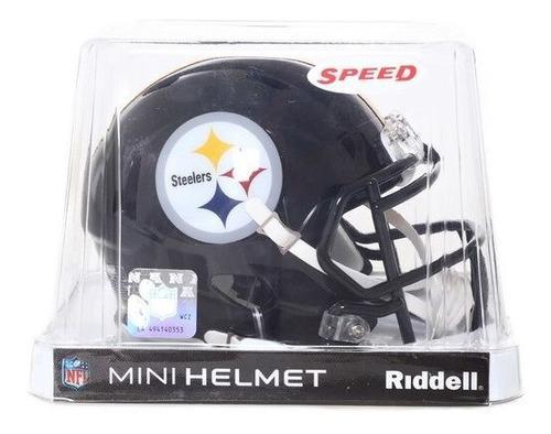 Nfl Mini Casco Riddell Speed Original Pittsburgh Steelers