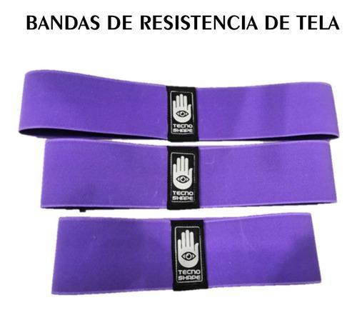Set 3 Ligas Resistencia De Tela Tecno Shape Bandas Gym