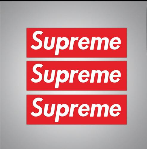 Supreme 19 Cm X 5 Cm, 50 Calcomanias Stickers Pvc Anti Agua