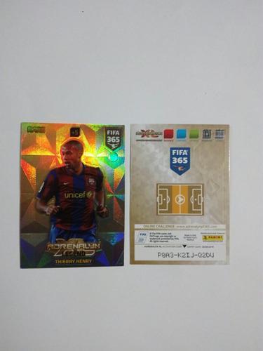 Tarjeta Rare #3 Thierry Henry Fifa 365 (2018)
